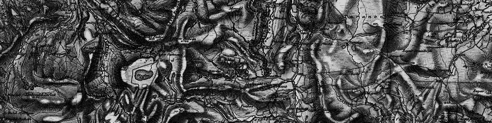 Old map of Y Grûg in 1899