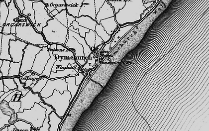 Old map of Dymchurch in 1895