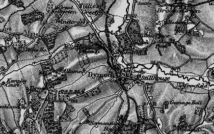 Old map of Dymock in 1896