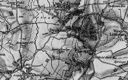 Old map of Dyrham in 1898