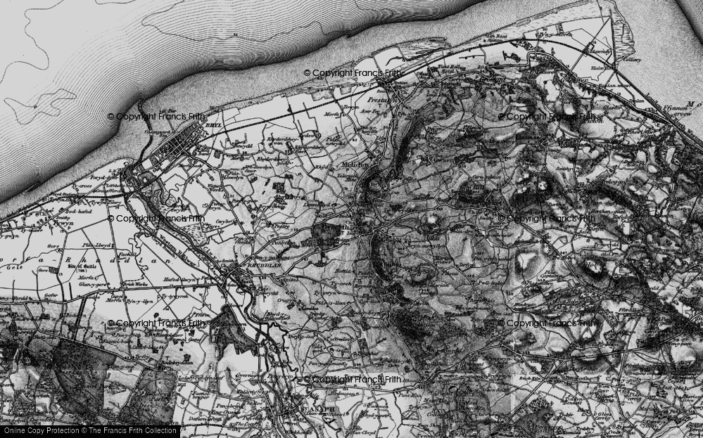Old Map of Historic Map covering Aberkinsey in 1898