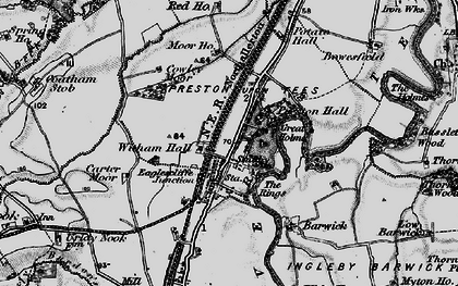 Old map of Eaglescliffe in 1898