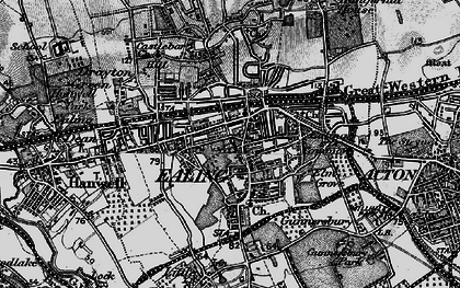 Old map of Ealing in 1896