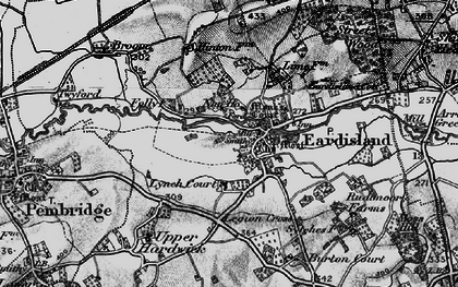Old map of Eardisland in 1899