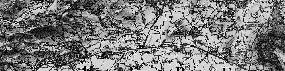 Old map of Eardisley in 1898