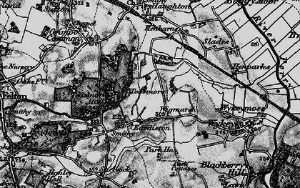 Old map of Wykeymoss in 1899