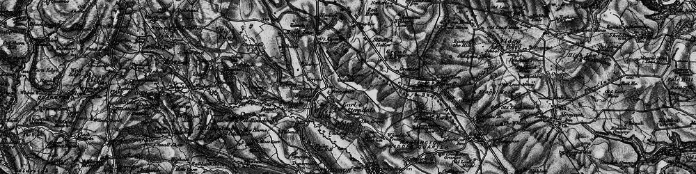 Old map of Earl Sterndale in 1896