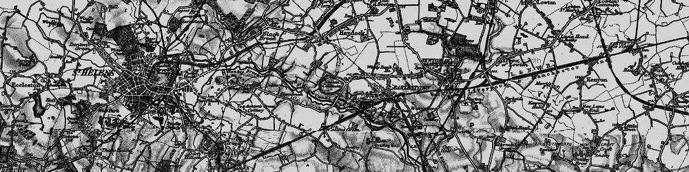 Old map of Earlestown in 1896