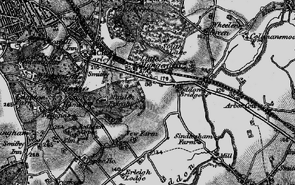 Old map of Earley in 1895