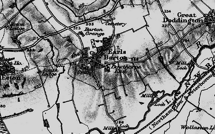 Old map of Earls Barton in 1898
