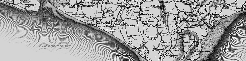 Old map of Almodington in 1895