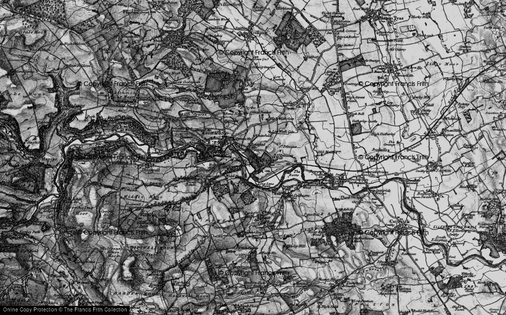 Old Map of Easby, 1897 in 1897