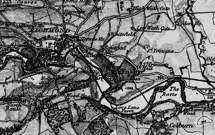 Old map of Easby in 1897