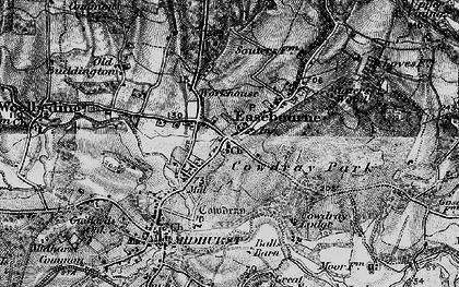 Old map of Easebourne in 1895