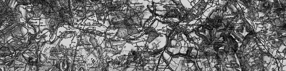 Old map of Eashing in 1896