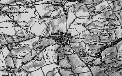 Old map of Easington in 1898