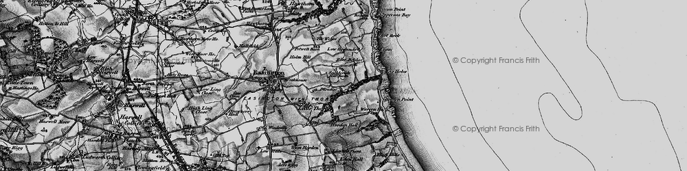 Old map of Easington Colliery in 1898
