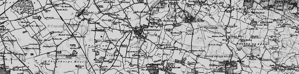 Old map of Easingwold in 1898