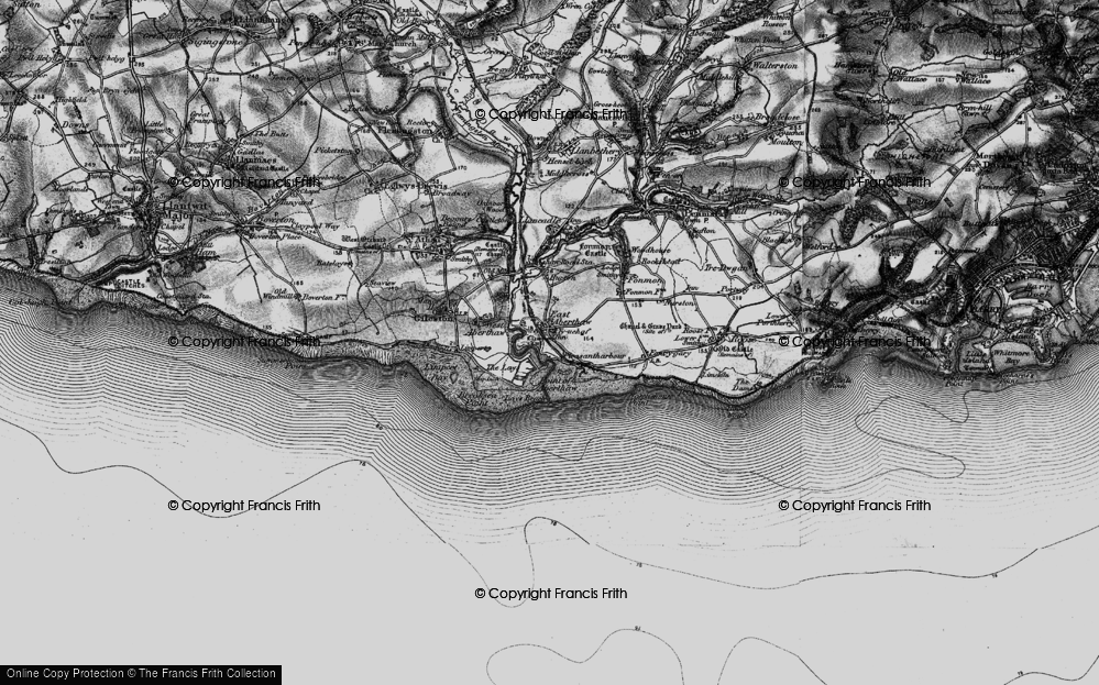 Old Map of East Aberthaw, 1897 in 1897
