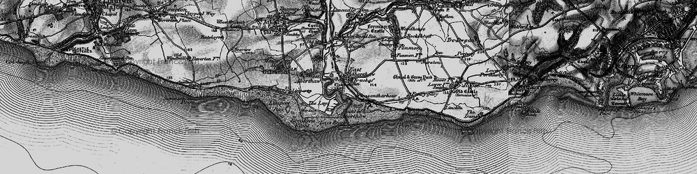 Old map of East Aberthaw in 1897