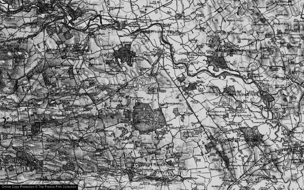 Old Map of Historic Map covering Linekiln Wood in 1897