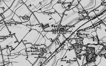 Old map of Back o' Frank's Hill in 1899