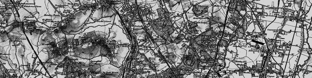 Old map of East Barnet in 1896
