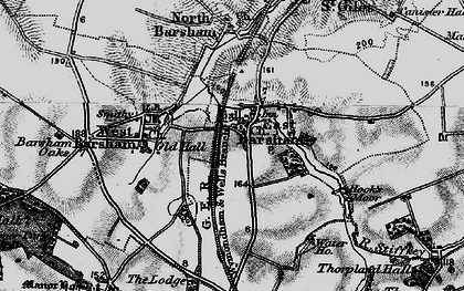 Old map of East Barsham in 1898