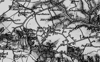 Old map of Ackworth Ho in 1896