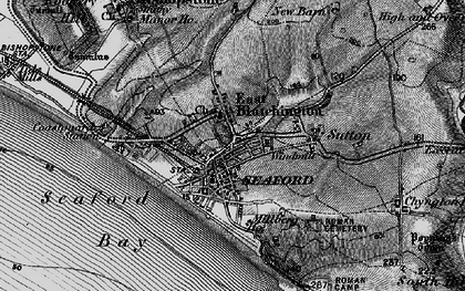 Old map of East Blatchington in 1895