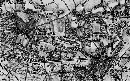 Old map of Woolsbarrow (Fort) in 1895