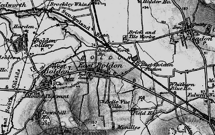 Old map of East Boldon in 1898