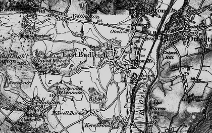 Old map of East Budleigh in 1898