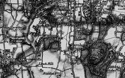 Old map of East Burnham in 1896