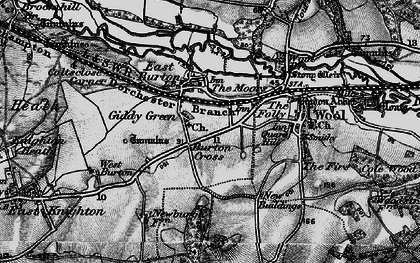 Old map of East Burton in 1897