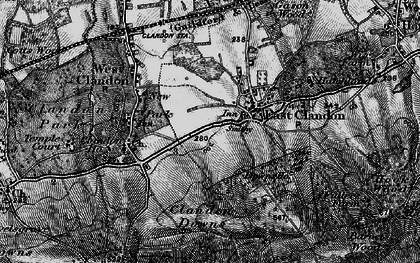 Old map of East Clandon in 1896