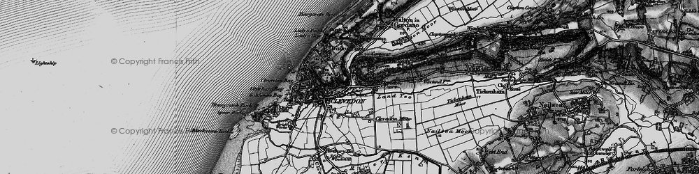 Old map of East Clevedon in 1898
