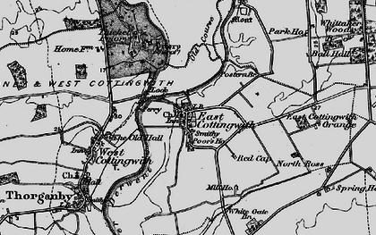 Old map of Wheldrake Ings in 1898