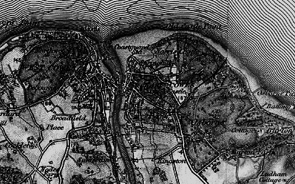 Old map of East Cowes in 1895