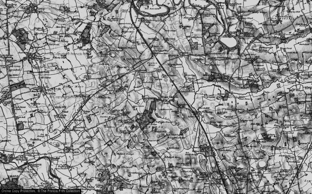 Old Map of Historic Map covering Atley Fields in 1897