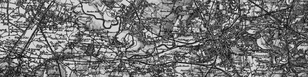 Old map of Abney Hall in 1896