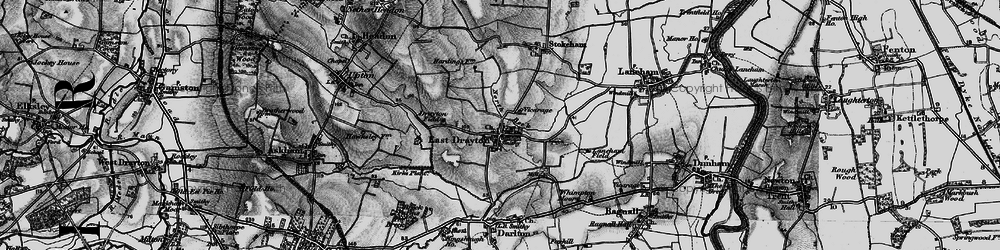 Old map of Whimpton Moor in 1899