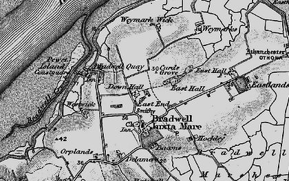 Old map of Tip Head in 1895