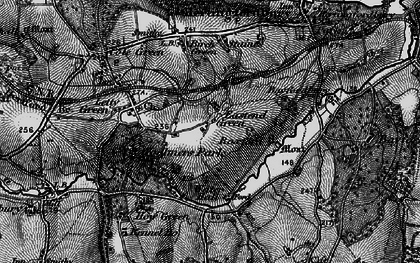 Old map of East End Green in 1896
