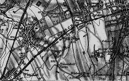 Old map of East Ewell in 1896