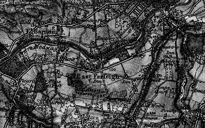 Old map of East Farleigh in 1895