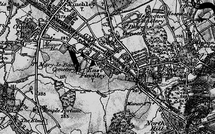 Old map of East Finchley in 1896