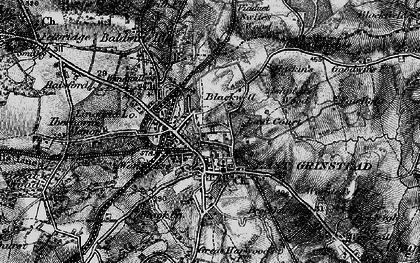 Old map of East Grinstead in 1895