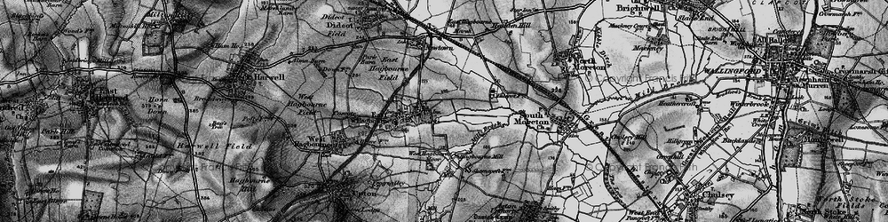 Old map of East Hagbourne in 1895