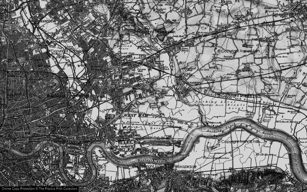 Old Map of East Ham, 1896 in 1896